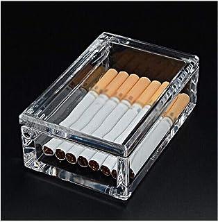 FRDYB Cigarette Holder 20 Packs Men's Cigarette Case Transparent Portable Portable Light Cigarette Case Nice (Color : Clear)