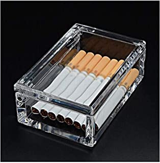 ZhaoXin Chen Cigarette Holder 20 Packs, Men's Cigarette Case, Transparent Portable Portable Light Cigarette Case portable cigarette case, (Color : Clear)
