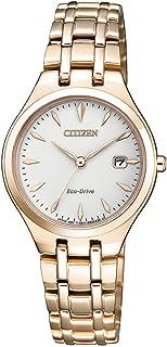 Citizen Women's Solar Powered Wrist watch, stainless steel Bracelet analog Display and Stainless Steel Strap, EW2483-85B