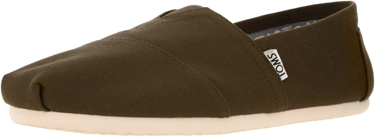TOMS All stores are sold Men's Classic Canvas Slip-On supreme Military - Olive US D M 8.5