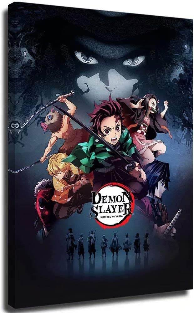 Portland Mall Demon Slayer Anime Poster Framed 16x24 price inches