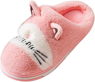 Non-slip Couples Children Warm Slippers Women's Mens Cartoon Cat Home Indoor Shoes