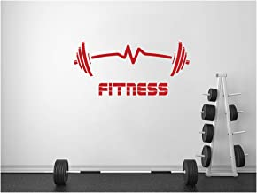 StickerDeen | Fitness Gewichten Hartslag Oefening Barbells Spier Motivational Sport Club Gym Stijl Vorm Decoratie Verwijde...
