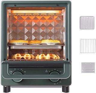 QWSA 12L Mini Oven & Grill Cocina EléCtrica MultifuncióN Vapor Multifuncional con Bandeja De Horno Parrilla Bandeja De Pan Rallado Control De Temperatura Ajustable Y Temporizador