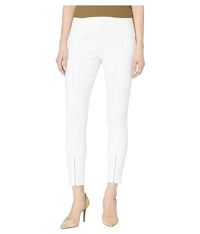 Lysse Front Zip Denim Capri Pant (White) Women