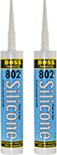 2-Pack Boss 802 Clear Pro Grade Silicone Sealant for pool, spa, household - 2 x 10.1 oz. tubes