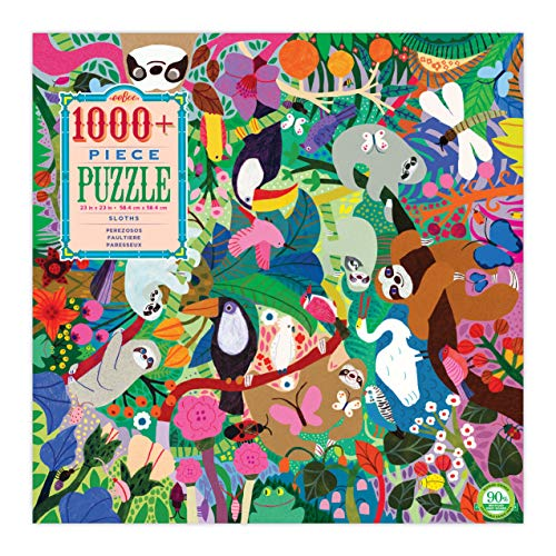 eeBoo Sloths Jigsaw Puzzle for Adults and Kids, 1000 Pieces