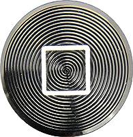 iPhone&iPad用 アルミニウムホームボタン(メタリックブラック)模様あり