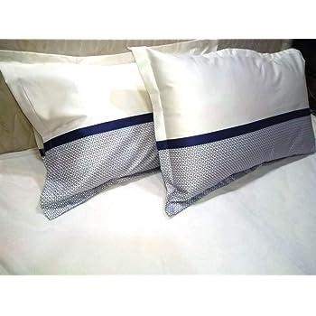 "Trance Home Linen Cotton 300 TC Pillow Cover (White_18""x28"")"