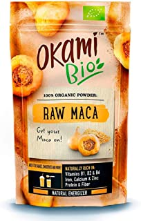 Okami Bio   Maca Cruda En Polvo   Energizante Natural   Naturalmente rico en Vitaminas B1. B2 & B6   200gr.