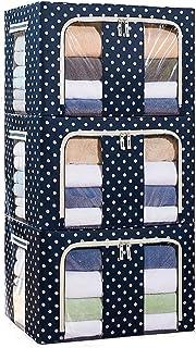 ffshop Sacs pour vêtements 3 Pack-66L Vêtements et Blanket Sac de Rangement for Placard Organisateur et Underbed Stockage,...