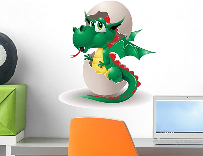 Wallmonkeys WM63110 Baby Dragon Cartoon Puppy Egg In 2012 Peel And Stick Wall Decals H X 18 In W 18 18 W Small