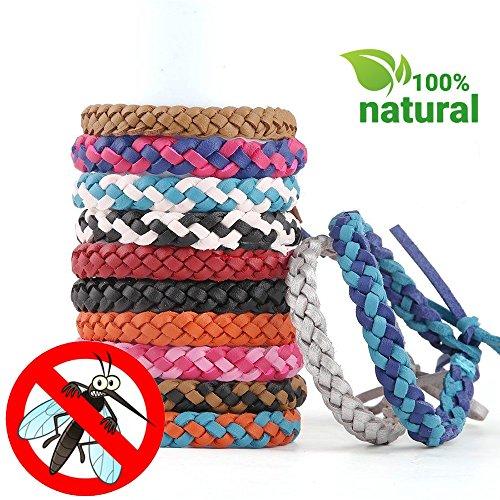 Fashionikon Anti-moustiques Bracelet 5pcs/5Couleurs Répulsif Insectes Bracelet Bracelets Durer jusqu\'à 15Jours, Naturel huiles végétales, Non Toxique, sans DEET, pour Adultes et Enfants