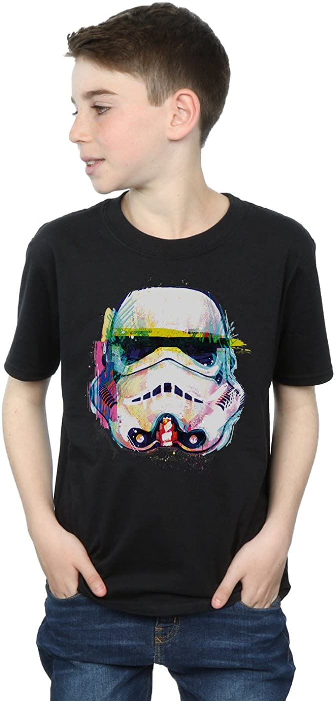 STAR WARS Boys Stormtrooper Command Art T-Shirt 9-11 Years Black