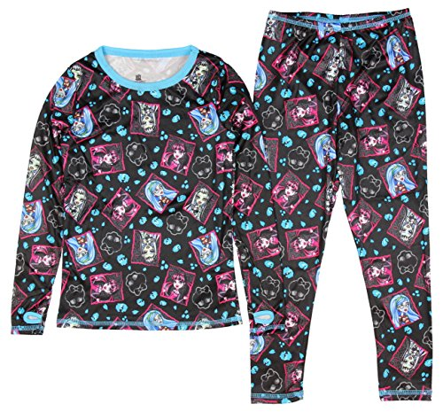 Monster high Lange Unterwäsche Monster high Winter warm Unterwäsche Set 2 teilig schwarz (110/116)