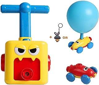 HOWADE Inertial Power Balloon Car,Inflatable Balloon Pump Hand Push Mini Plastic Air Power Balloon Science Experiment Vehi...