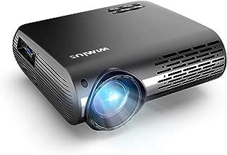 WiMiUS プロジェクター 6000lm 1080PフルHD 1920×1080リアル解像度 ホームプロジェクター 4Kまで対応 300インチ大画面 二つ内蔵HIFIスピーカー ±50°デジタル4D台形補正 ビジネスプロジェクター ホームシアターHDMI/USB/VGA/AV/パソコン/スマホ/タブレット/ゲーム機など接続可能 三年保証