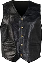 Giovanni Navarre Men's Buffalo Leather Motorcycle Casual Vest