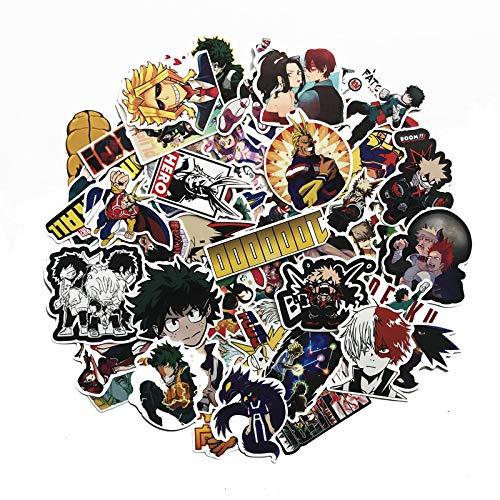ZNMSB 73 Piezas de My Hero Academia Animación Maleta circundante Trolley Maleta Pegatinas de Maleta Pegatinas de Graffiti bidimensionales