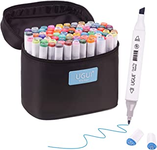 UGUI Markers, 80 Colors Art Marker Set, New Generation Dual Tip Permanent Marker pens for Kids & Adult Drawing and Painting Supplies with Fashion Carrying Case