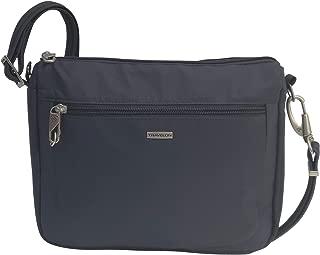 Travelon Anti-Theft Classic Small E/w Crossbody Bag (Dark Grey/Grey Lining)