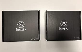 { Package of 2 } Black BUZZTV XPL3000 2018 Edition Android Nougat 7.1.2 Quad CORE 2GB RAM 8GB Storage