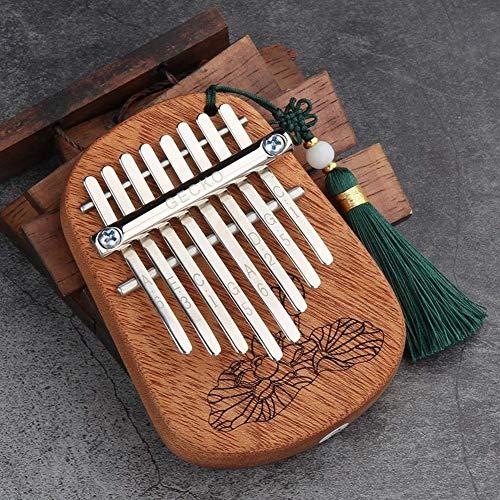 GUOQING SFFSM 8 Tasten Finger Kalimba Daumenklavier Tragbarer Beginners Keyboard African Marimba Mahagoniholz Musikinstrument Piyano w/Lanyard (Farbe : Mahogany)