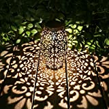 Kaixoxin Solar Lantern Lights for Hanging or Table Outdoor Solar Light for Patio Courtyard...