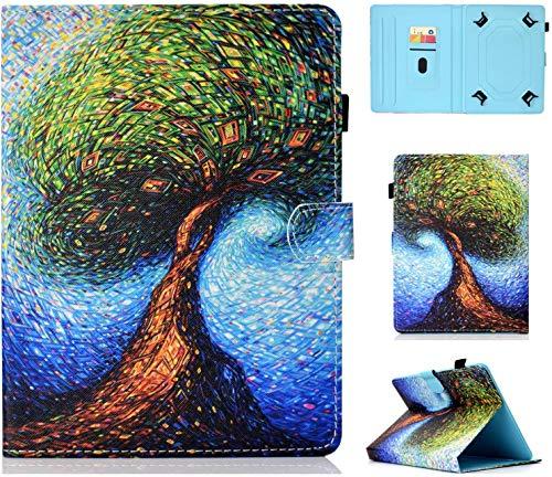 Universal Case for 7' Tablet, Protective Cover for iPad Mini 4/3/2/1, Galaxy Tab A 7 Inch/Tab 3 Lite 7.0, Huawei MediaPad T3 7', Kobo Aura H2O 2nd Edition, Lenovo Tab 3 7 Essential, Unicorn (Tree)