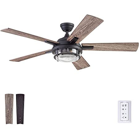 Prominence Home 51484-01 Freyr Ceiling Fan, 52, Textured Black