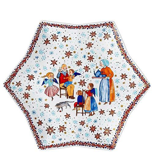 Hutschenreuther Sammelkollektion 20 Weihnachtsbäckerei Sternschale 34 cm 02473-727321-25384