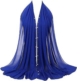 Fashion Chiffon Pearl Scarf, Witspace Ladies Fashion Muslim Hijab Jersey Shawl Long Head Wrap Islamic