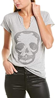 Womens Tunisien Skull Studs T-Shirt, Xs, Grey