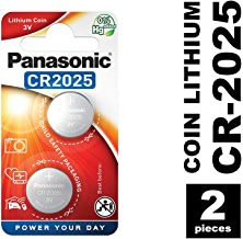 Panasonic CR2025 Specialist Lithium Coin Battery (Pack of 2)