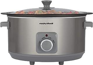 Morphy Richards 461014 Sear & Stew 6.5 Litre Aluminium Slow Cooker, One-Pot Solution