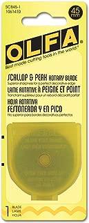 OLFA 45mm Rotary Blade Refill, Scallop