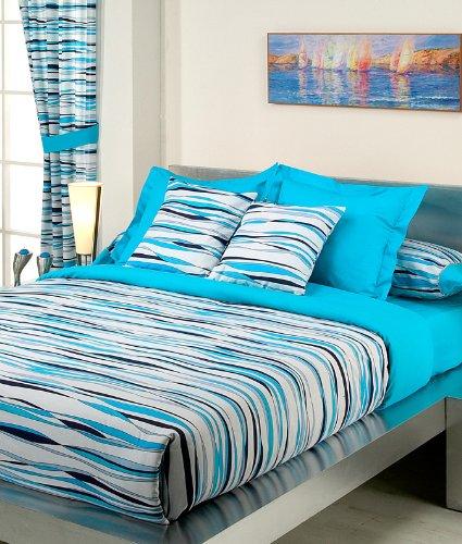 Set mit Daunendecke Simone, gemustert, für eine Bettbreite von 160cm
