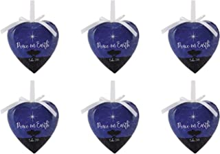 Religious Peace on Earth Christmas Shatterproof Decoupage Ornament, Pack of 6