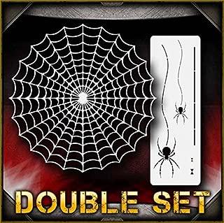 Spider Web Set 2 AirSick Airbrush Stencil Template
