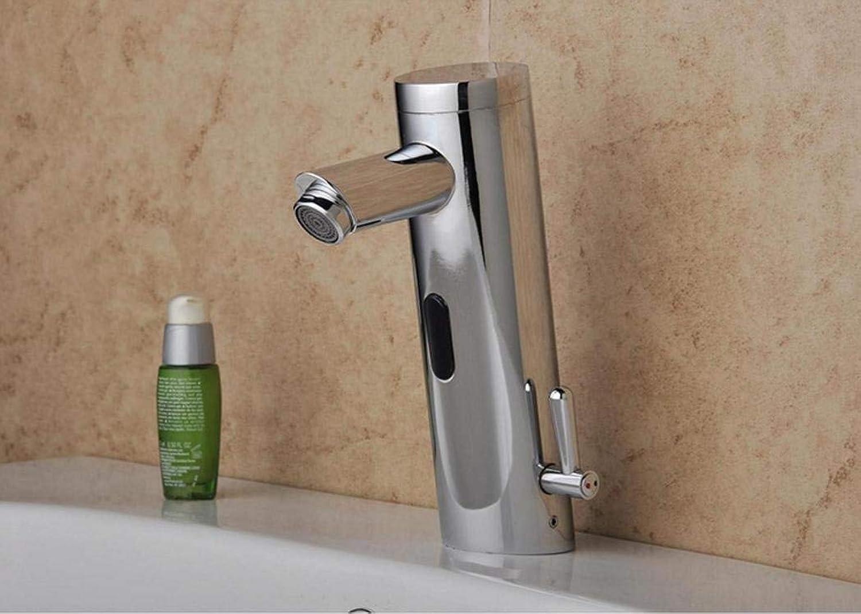 WENYAO Mischwasser Sensor Wasserhahn Mode langlebig Bad Wasserhahn Chrom Chrom Sensor Wasserhahn