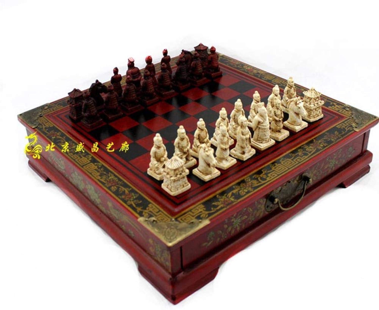 barato y de alta calidad Qupanpan Tablero de ajedrez de Madera de ajedrez ajedrez ajedrez de Dibujos animados-A-19  19cm  gran descuento