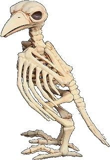 (リトルスワロー) LtSw ホラー バード スケルトン 可動する 骸骨 リアルに不気味 置物 オブジェ お化け屋敷 ハロウィン (ホワイト)