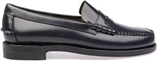 Luxury Fashion | Sebago Men 7000300908 Black Leather Loafers | Spring-summer 20