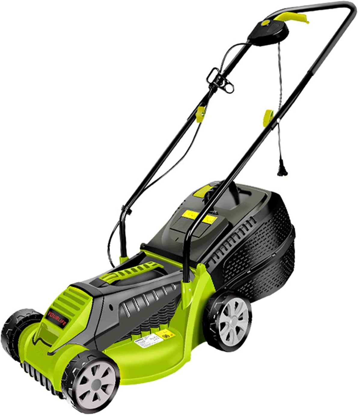 Ranking TOP2 LHMYGHFDP 1600W Hand Push Mower Rotary Lawn New color Electric