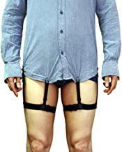 Demana Generic 1 Pair Mens Adjustable Invisible Shirt Stay Shirt Garter Belt Non-slip Clamps Accessories (Style A)