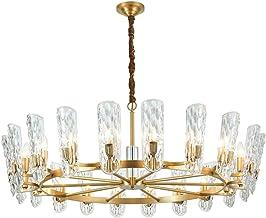 KANJJ-YU Pendant Lamps The light living room lamp crystal chandelier American post- modern minimalist style bedroom restau...