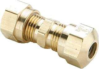 Pack of 20 5//1 Compression Tube x 5//1 Compression Tube Parker Hannifin 62C-5-pk20 Union Compression Fitting Brass