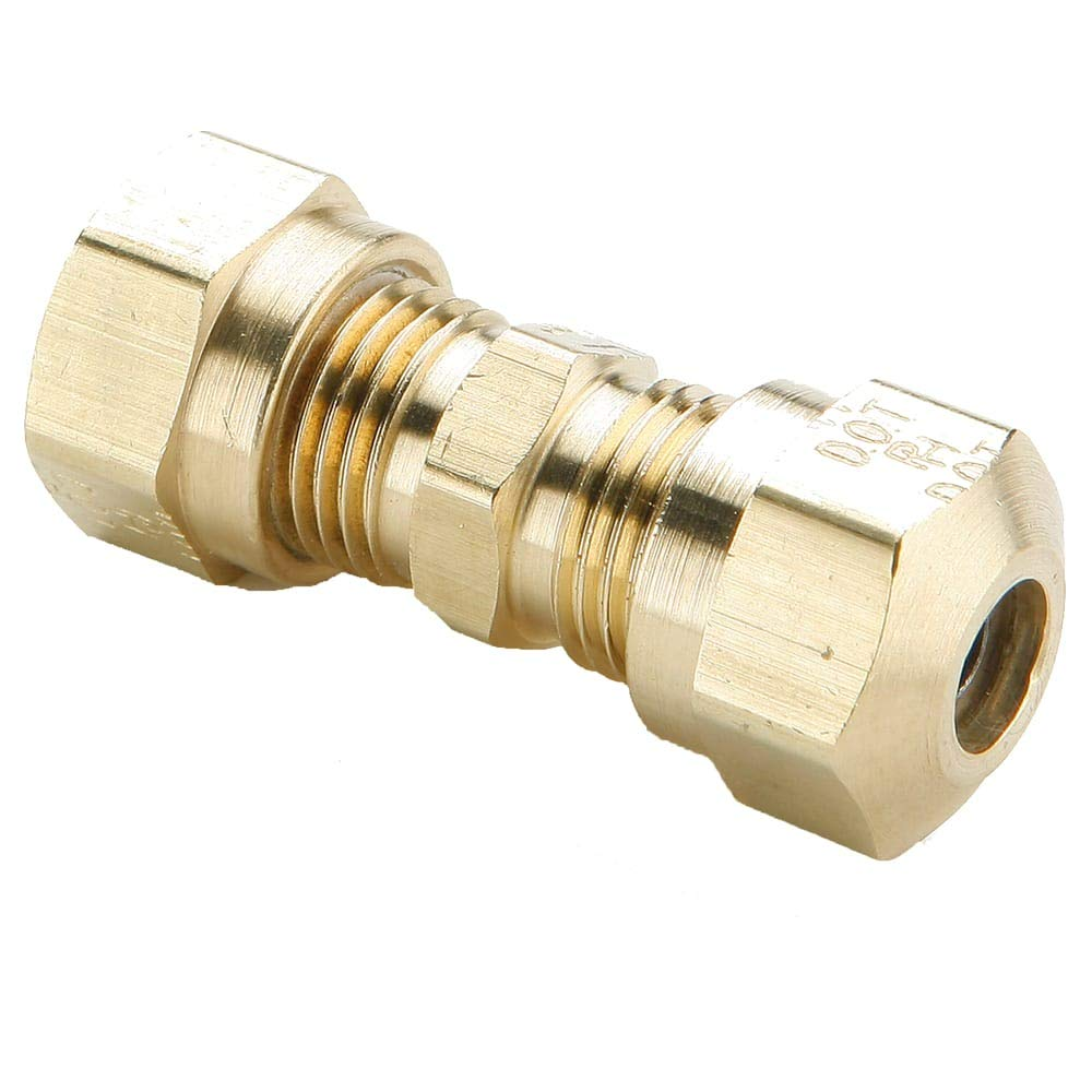 3//8 Compression Tube x 3//8 Compression Tube Parker Hannifin 264NTA-6 Brass Air Brake-NTA Union Tee Fitting
