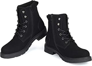 Winter Work Boots for Men-Lace Up Cap Toe Ankle Boot for Military Tactical Combat Hiking Motorcycle