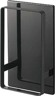山崎実業(Yamazaki) マグネット ツーウェイ バスルーム 風呂椅子 ホルダー ブラック 約W12XD5XH20cm タワー 通気性よく乾きやすい 5396